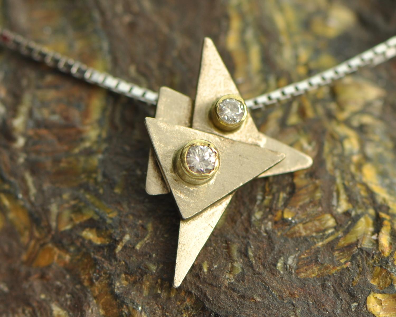 witgouden hanger met diamanten, handgemaakt LYAM edelsmeden