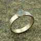 Zilveren ring met aquamarijn, basic model, handgemaakt