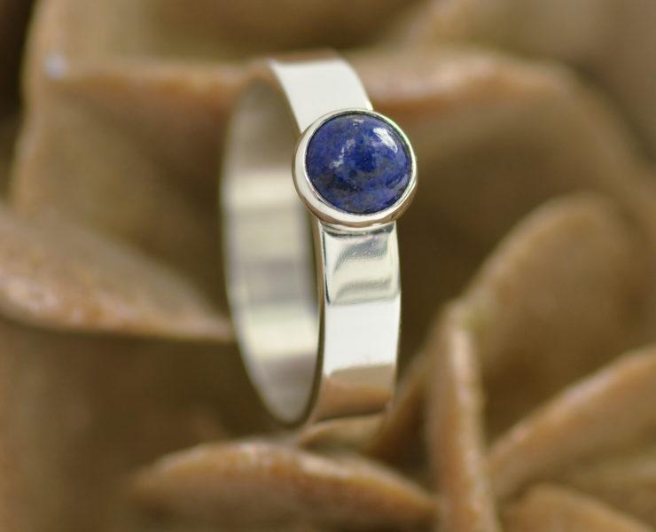 Ring lapis lazuli zilver