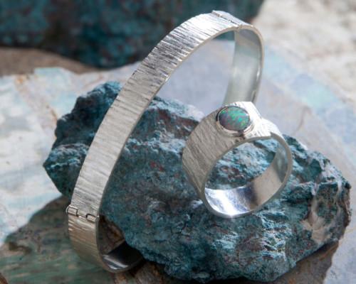 Armband geruwd zilver
