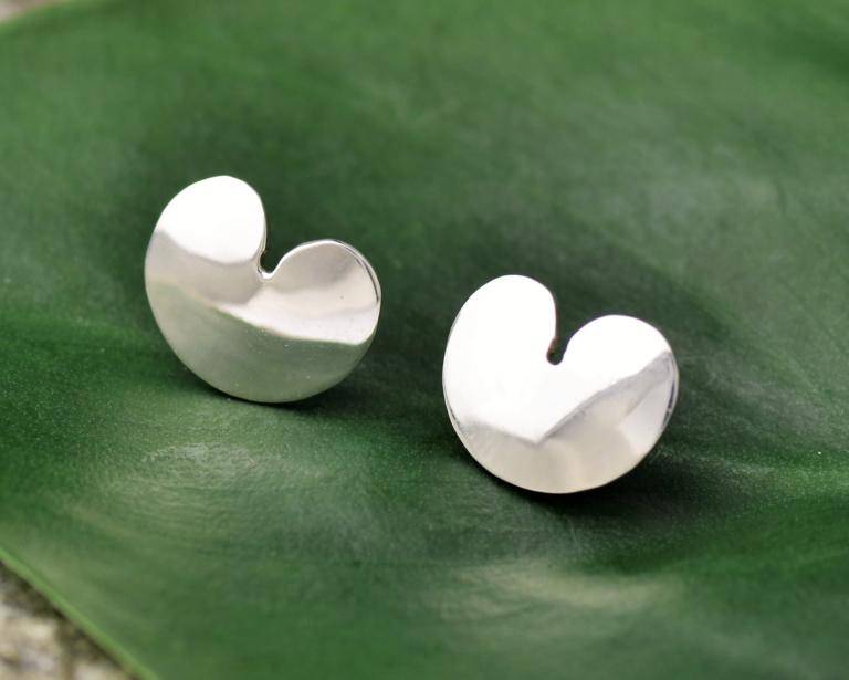 Zilveren oorbellen Pompebledsje