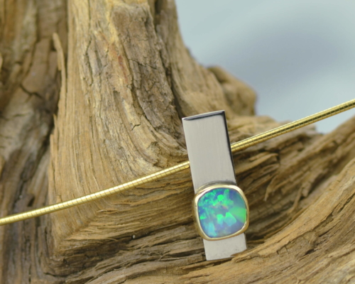 Ketting Opaal en goud