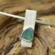 zilveren hanger met opaal en goud, handgemaakt door LYAM edelsmeden