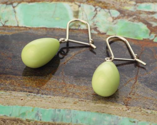 Oorhangers Oorbellen Lemon Chrysopraas