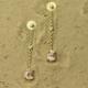 lange oorbellen oorstekers goud gouden diamant diamanten morganiet roze edelsteen handgemaakt