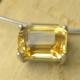Hanger citrien en zilver handgemaakt gele edelsteen