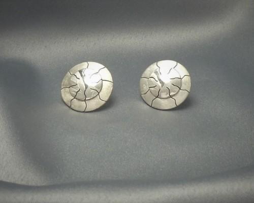 Zilveren oorbellen handgemaakt bijzonder ontwerp