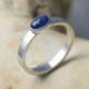Ring zilver met saffier blauwe ovaal ovale zilveren handgemaakt kopen