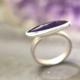 Ring amethist zilver bijzonder model paars paarse zilveren handgemaakt edelsmid edelsmeden LYAM